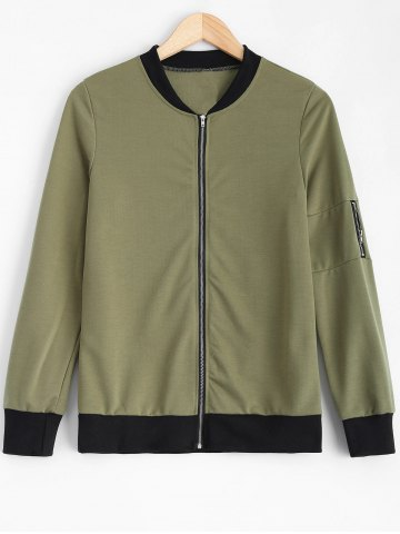 Outfits Zipped Pilot Jacket ARMY GREEN XL