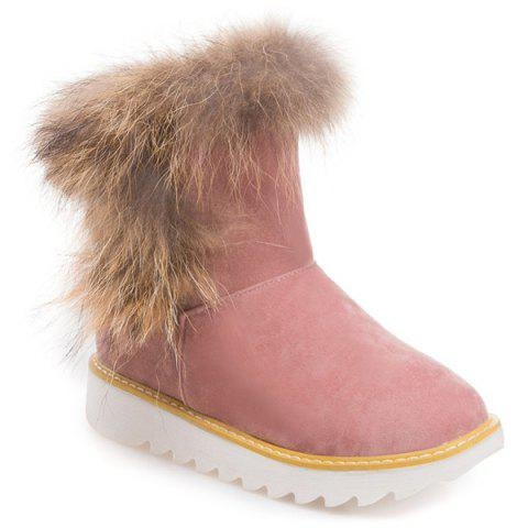Discount Platform Suede Furry Snow Boots