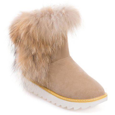 Hot Platform Suede Furry Snow Boots