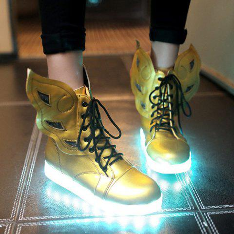 Shops Lace-Up Winged High Top Led Luminous Shoes