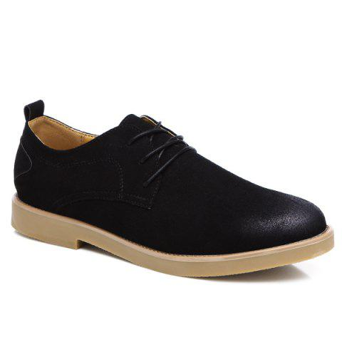 Chic Retro Lace-Up Suede Casual Shoes