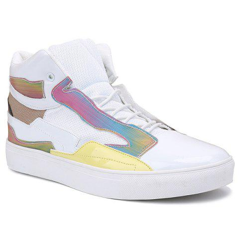 Latest Color Block Mid Top Casual Shoes