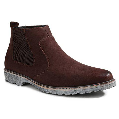 Sale Vintage Slip-On Suede Ankle Boots - 41 BROWN Mobile