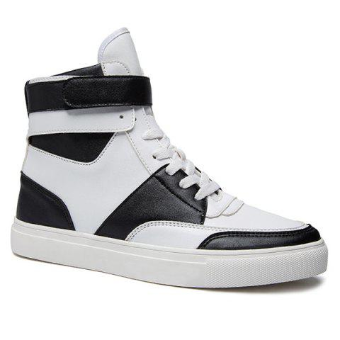 Store Casual PU Leather Lace-Up Boots WHITE 44