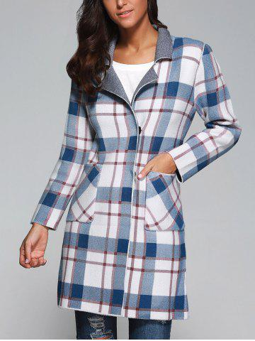 Outfit Plaid Wool Blend Coat with Pockets