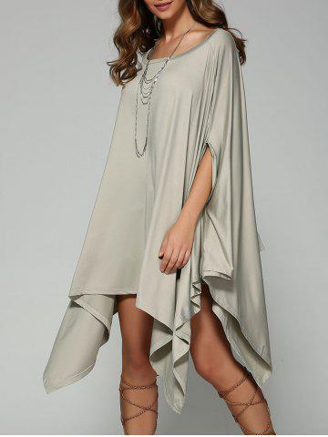 Fashion Oversized Handkerchief Tee Dress LIGHT GRAY XL