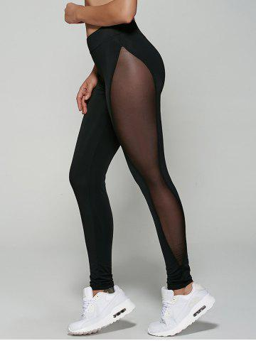 Shop Mesh Patchwork See-Through Leggings