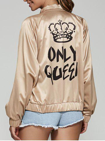 Outfit Only Queen Satin Bomber Jacket CHAMPAGNE L