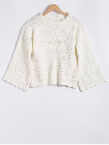 Hot Hollow Out Round Neck Jacquard Mohair Sweater