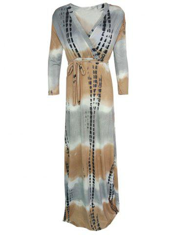 Hot Wrap Tie-Dyed Maxi Dress