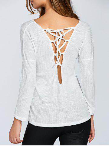 Outfit Lace Up Back Long Sleeve T-Shirt