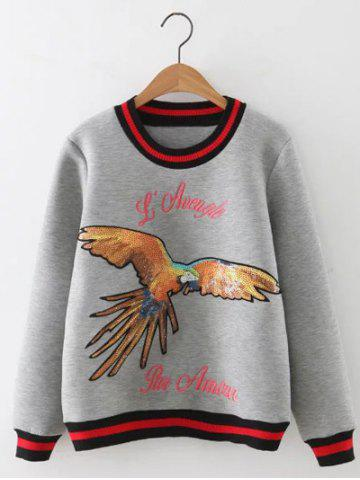 Discount Eagle Sequined Loose Sweatshirt