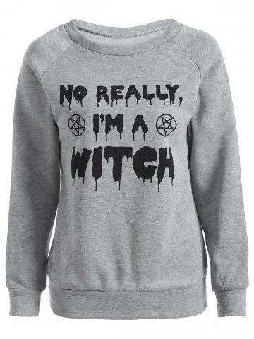 Store I Am A Witch Sweatshirt GRAY 2XL