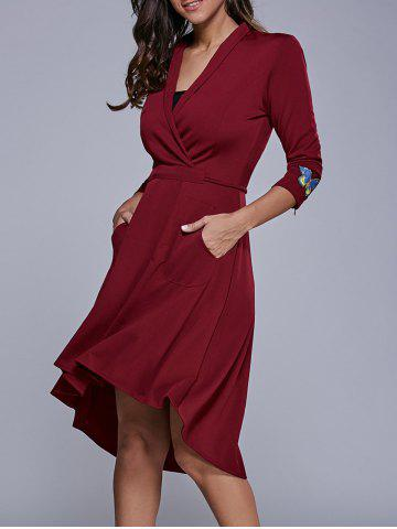 Affordable Butterfly Embroidered High Low Dress
