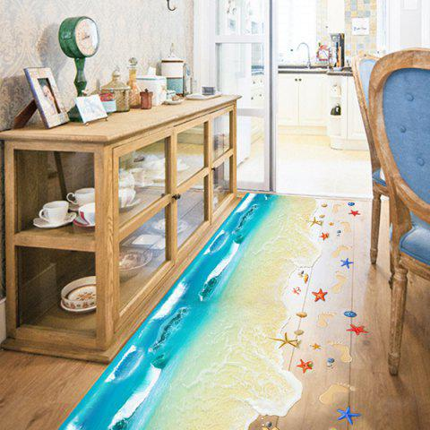 Shops Creative Removable 3D Beach Toilet Floor Sticker - COLORMIX  Mobile