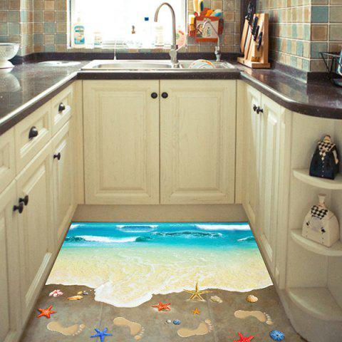 Unique Creative Removable 3D Beach Toilet Floor Sticker - COLORMIX  Mobile