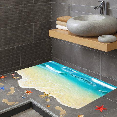 Best Creative Removable 3D Beach Toilet Floor Sticker - COLORMIX  Mobile