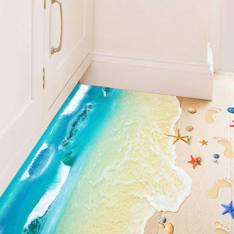 Sale Creative Removable 3D Beach Toilet Floor Sticker - COLORMIX  Mobile