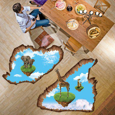 Best 3D Creative Removable Floating Island Bedroom Kindergarten Floor Sticker