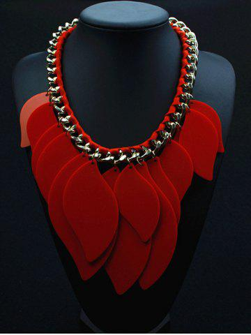 Outfits Geometry Leaves Statement Necklace