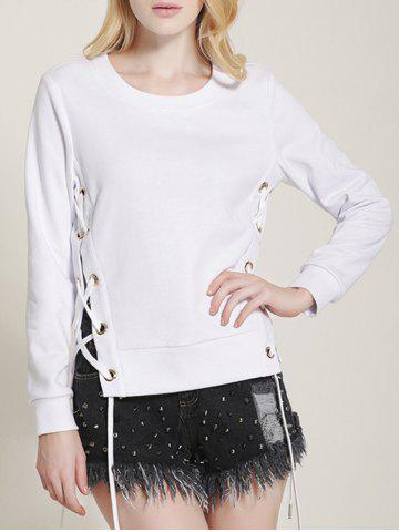 Outfits Side Lace-Up Sweatshirt