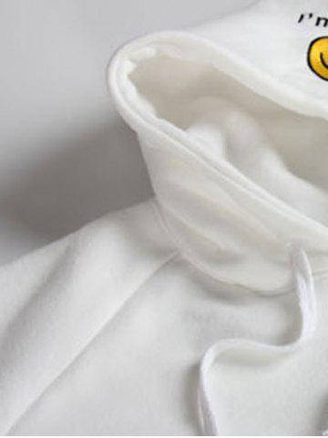 Outfits Embroidered Thickening Hoodie - ONE SIZE WHITE Mobile