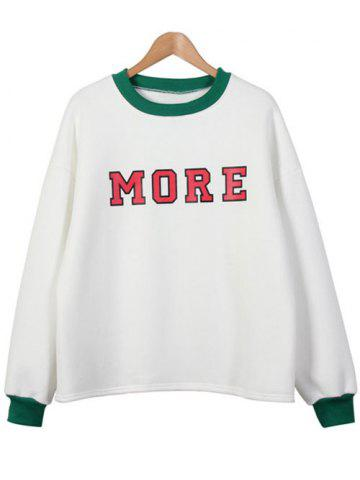 Outfits Letter Thickening Sweatshirt