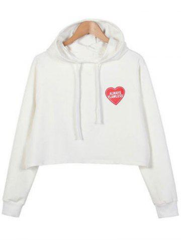 Store Patched Letter Cropped Hoodie
