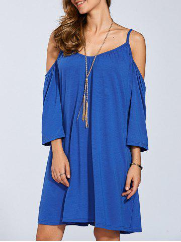 Chic Flare Sleeve Cold Shoulder Dress