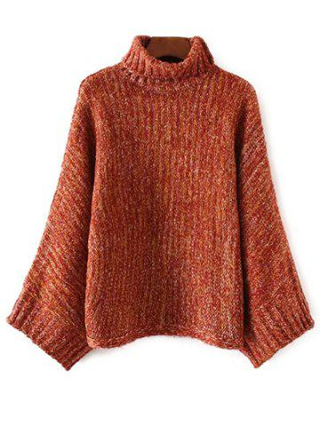 Latest Turtle Neck Marled Batwing Sweater