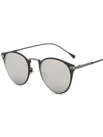 Affordable Cool Metal Cat Eye Mirrored Sunglasses