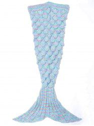 Endearing Multicolored Mermaid Knitted Blankets and Throws