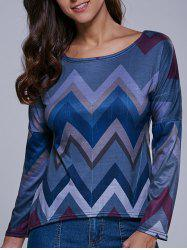 Zig Zag High-Low T-Shirt -