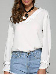 Long Sleeve Loose Blouse -