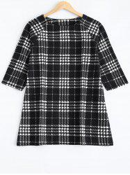 Plus Size Checkered Printed Blouse -