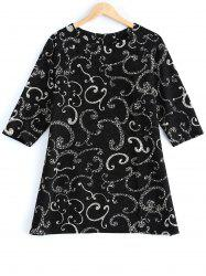 Plus Size Clouds Printed Blouse -