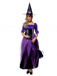 Witch Cosplay Costume Halloween Witch Dress -