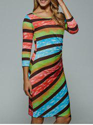 Colorful Stripe Bodycon Dress -
