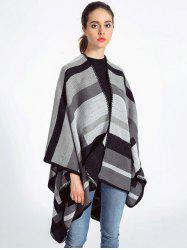 Autumn Stripe Pattern Wrap Shawl Pashmina -