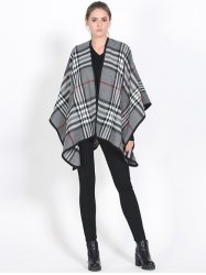 Britian Plaid Covered Edge Wrap Shawl Pashmina