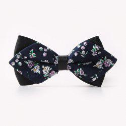 Banquet Tiny Floral Sharp-Angled Double-Deck Bow Tie -