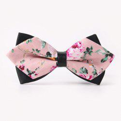 Banquet Rose Sharp-Angled Double-Deck Bow Tie - PINK