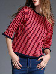 Two Tone Striped Sweater -