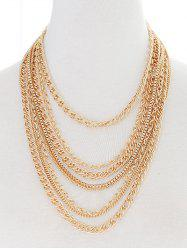 Layered Chains Strand Necklace -