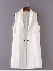 Slimming Buttoned Design Long Waistcoat -