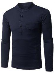 Collier Grandad Faux T-shirt à manches longues Pocket -