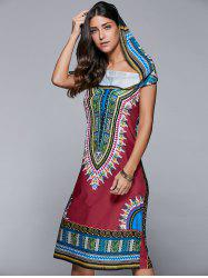 Hooded Tribal Print Dress