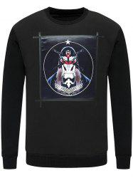 Crew Neck Masked Men Printed Knitwear -