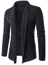 Slim-Fit Shawl Collar Long Cardigan