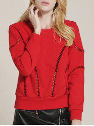 Hollow Out See Through Sweatshirt -